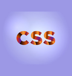 Css concept colorful word art vector