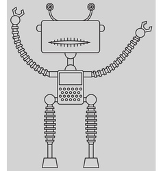 Cute robot vector image