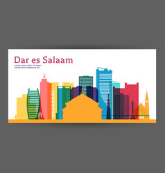 dar es salaam colorful architecture vector image