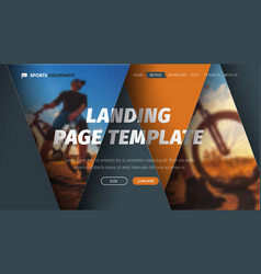 Design header with intersecting floating vector