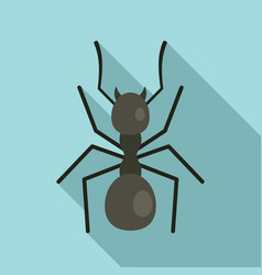 Digger ant icon flat style vector