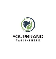 Dog care logo design concept template vector