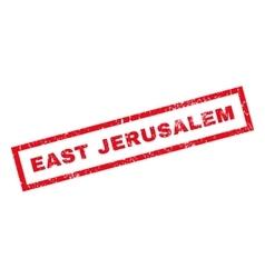 East Jerusalem Rubber Stamp vector