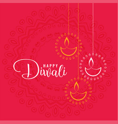 Elegant happy diwali festival greeting background vector
