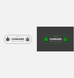 emblem template with organic hemp sbd and thc on vector image