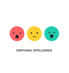 Emotion faces positive negative and neutral vector