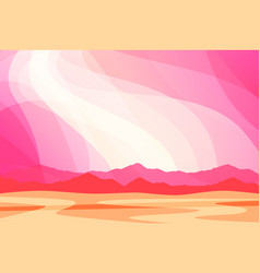 fantasy landscape with pink clouds wallpaper or vector image