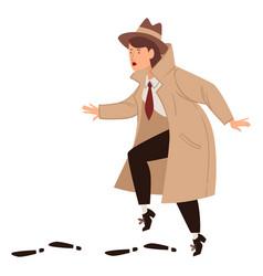Female detective inspector working undercover vector