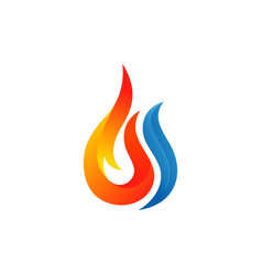 fire and water logo template vector image