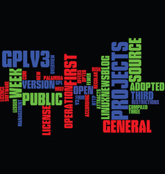 gplv attracts projects in first week text vector image