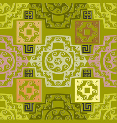 greek seamless pattern abstract geometric vector image