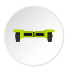 Green hoverboard icon circle vector