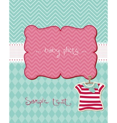 Greeting baby card - with place for your photo vector