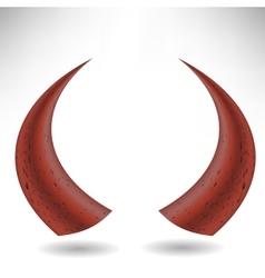 Halloween Red Horns vector