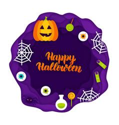 Happy halloween papercut concept vector