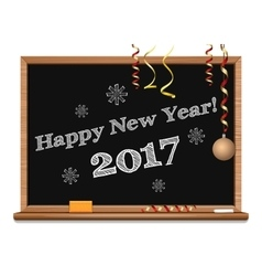Happy New Year 2017 Christmas design vector
