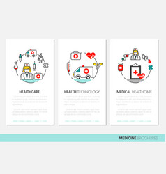 Health care and medicine business brochure vector