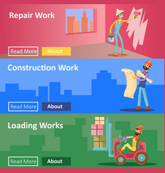House construction and repair work flat vector