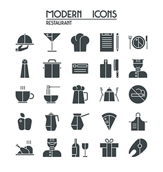 Icon set restaurant vector image