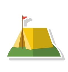 Isolated tent with flag design vector image
