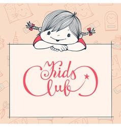 Kids club vector image