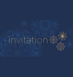 laconic luxury snowflake greeting card vector image