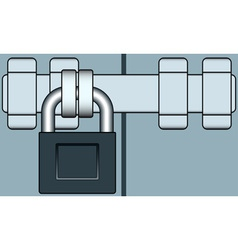Lock and bar vector