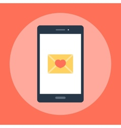 Love Message on the Phone vector image