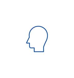 man head line icon concept man head flat vector image