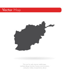 map afghanistan isolated vector image