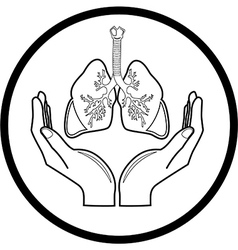 Medical icon Protection of lungs vector image