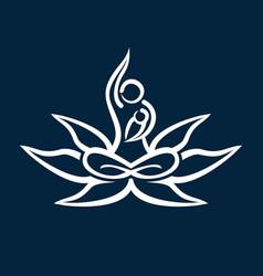 mother bayoga logo creative concept vector image