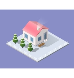 New Year Christmas 3d house vector