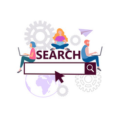 online search concept search engine optimization vector image