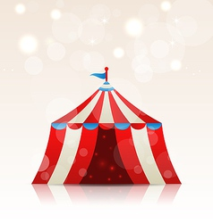 Open circus stripe entertainment tent vector