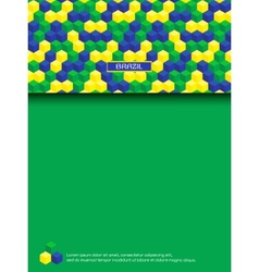 Page with brazilian colors vector