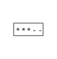 Password icon vector