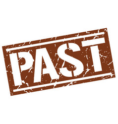 Past square grunge stamp vector