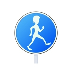 Pedestrian road sign icon cartoon style vector