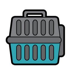 Pet transporter icon imag vector