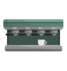 professional coffee machine icon cartoon style vector image