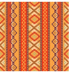 Red and orange ethnic pattern vector