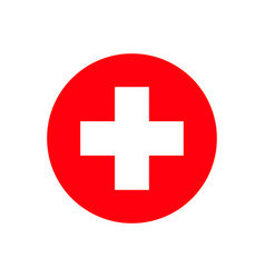red cross hospital isolated sign on white vector image