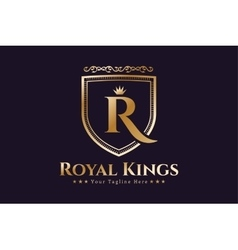 Royal logo template hotel vector
