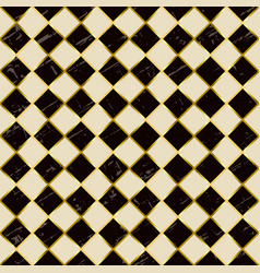 seamless pattern with squares in brown ivory white vector image