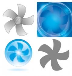 Set fan elements vector
