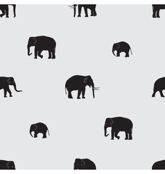 shadow elephants seamless pattern eps10 vector image