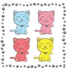 Smiling cats vector