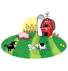 spilled milk at the dairy farm vector image