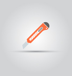 stationery knife isolated colored icon vector image